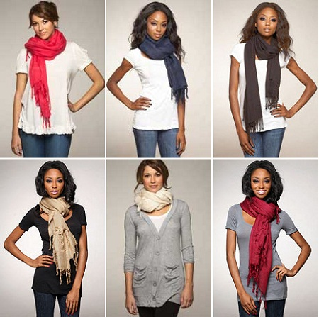 fashionable ways to tie your scarf betty